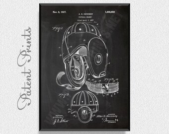 Football Helmet 1927 Patent Print, Football Prints, Football Posters, Football Blueprints, Football Art, Football Wall Art, Sport Prints