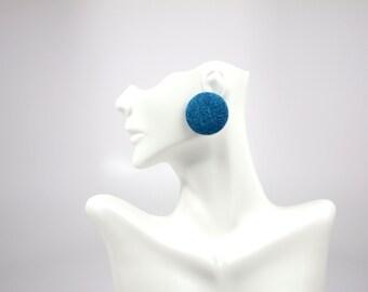 Denim Jean Stud Earrings