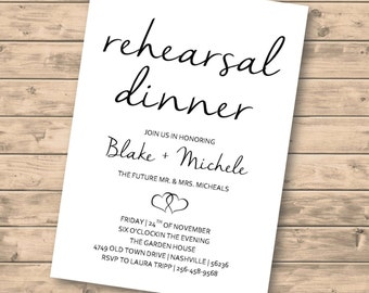 Rehearsal Dinner Invitation DIGITAL