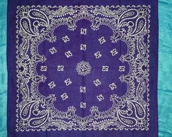 DONG-A Fashion Purple Blue Vintage Bandana PAT. 0010383