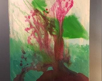"""18"""" x 24"""" mixed media painting"""