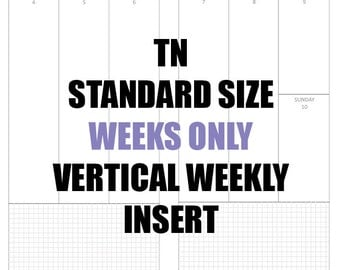 Standard Undated Vertical Week On 2 Pages Download