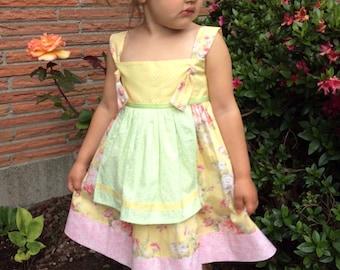Handmade girls cotton dress