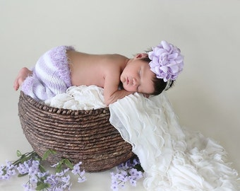 Purple Headband, Girls Headband, Baby Headband, Dahlia Headband, Photo Prop