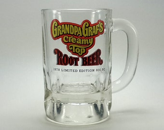 3 Grandpa Graf's Creamy Top Root Beer Mugs 1978  Ltd Ed Milwaukee WI