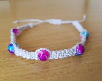 Tie Dye Beaded Hemp Bracelet