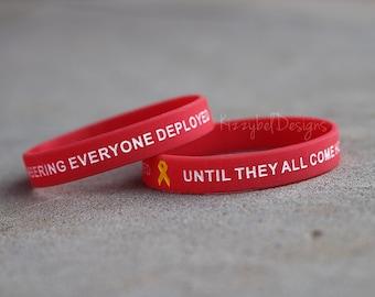 Military Bracelet Deployment Bracelet Red Friday Bracelet Army Bracelet Navy Bracelet Air force bracelet Marine bracelet support bracelet af