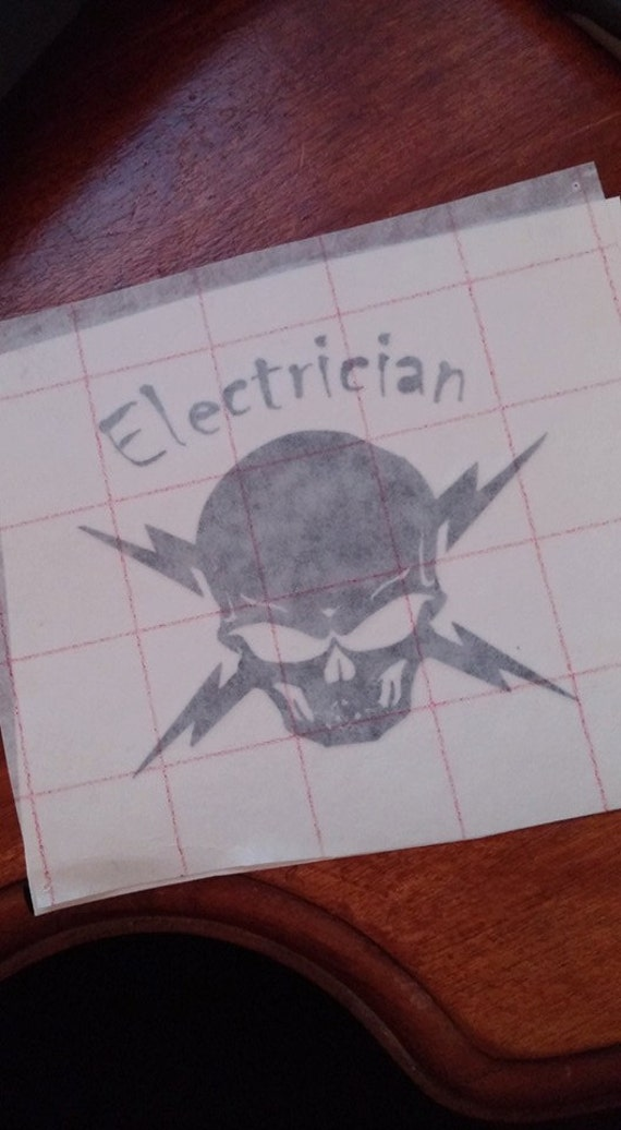 electrician hard hat sticker by customcreations910 on etsy