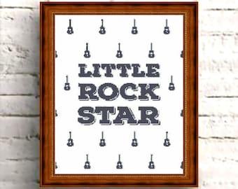 CROSS STITCH PATTERN Little Rock Star Quote