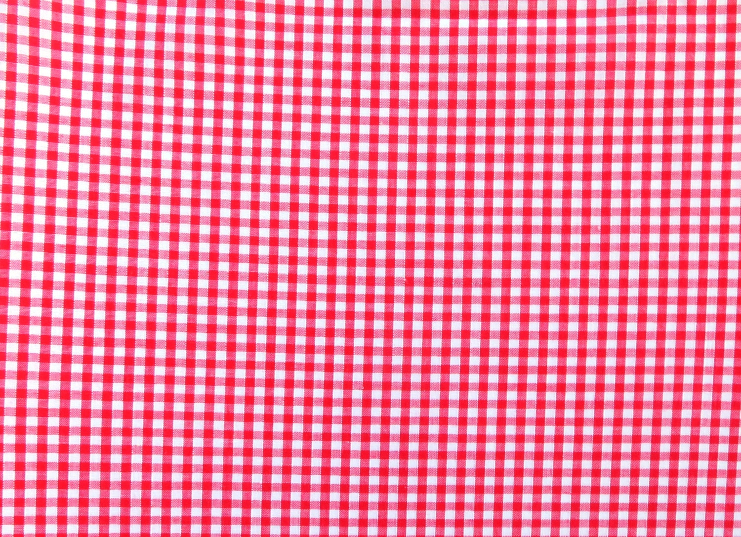 Red gingham fabric red check fabric small checked fabric for Gingham fabric