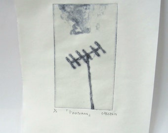 Original Etching ''l'antenna''