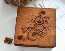 Original Personalized Wooden Gift Box, Luxury Engraved Box Case, Handmade Engraved Gift Box, Personalized Jewelry Box