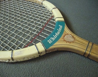 Whirlwind by Caprico Wooden Tennis Racket Vintage Sports Equipment