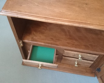 Restored antique wall cabinets