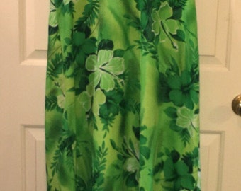 Vtg Royal Hawaiian Hibiscus Dress
