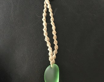 Hemp Keychain With Seaglass
