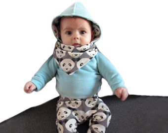 bib panda drooling scarf
