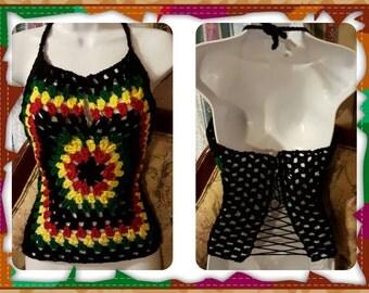 Crochet Rasta Halter