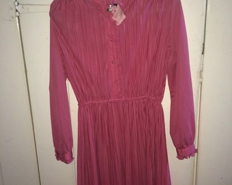 Pink victorian style vintage dress