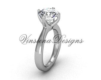 14kt white gold engagement ring, wedding ring VD10020