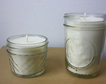 High quality scented soy wax candle in mason jars - many available options!