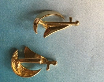 gold boat pasamiñones [2 pieces]