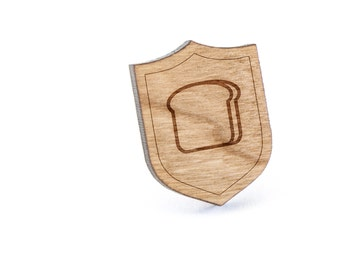 Bread Lapel Pin, Wooden Pin, Wooden Lapel, Gift For Him or Her, Wedding Gifts, Groomsman Gifts, and Personalized