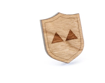 Twin Peaks Lapel Pin, Wooden Pin, Wooden Lapel, Gift For Him or Her, Wedding Gifts, Groomsman Gifts, and Personalized