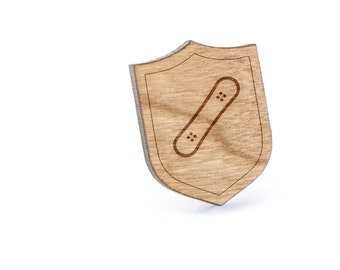 Snowboard Lapel Pin, Wooden Pin, Wooden Lapel, Gift For Him or Her, Wedding Gifts, Groomsman Gifts, and Personalized