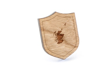 Scotland Lapel Pin, Wooden Pin, Wooden Lapel, Gift For Him or Her, Wedding Gifts, Groomsman Gifts, and Personalized