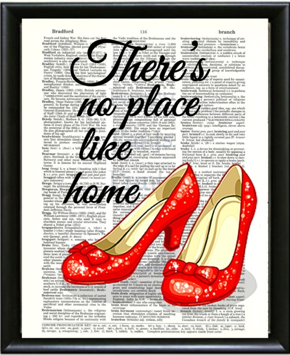 There's No Place Like Home-Wizard Of OZ Dictionary Art