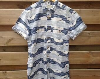 SALE - MENS   Vintage blue Indian inspired shirt   Size M - SALE