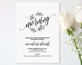 Brunch invitation etsy for Wedding brunch invitations