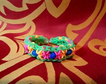 Rainbow loom, loom bracelet, cross, bracelet, bracelet, handmade, OOAK, handmade, unique