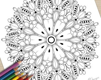 Printable Colouring Page Uptown Bouquet