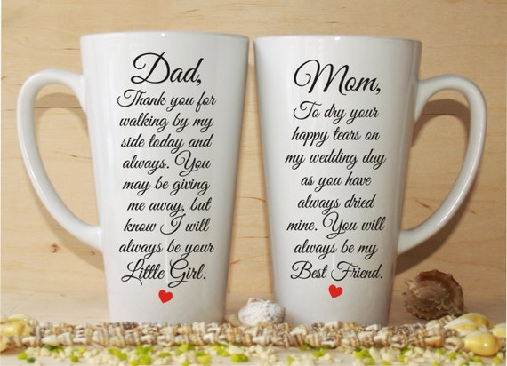 Wedding Gifts For Godparents : Wedding gift-Mother of the Bride gift-Father of the Bride gift-Wedding ...