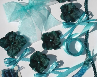 Inspiration Kit Embellishments Silk Flowers Papercrafts Crazy Quilts Hair Bows Hats Scrapbooking Needlecrafts Home Decor
