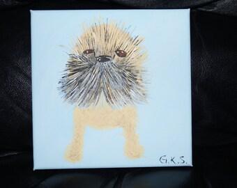 Scruffy Puppy handmade acrylic painting