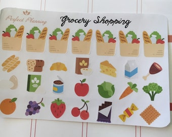 Grocery Shopping Decorative Stickers