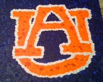 Auburn University melted crayon painting