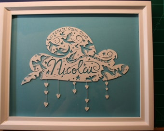 Personalized Paper Cutting - Baby Commemorative