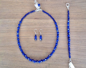 Jewels set in cobalt