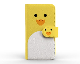 iphone wallet detachable leather wallet for apple iphone 5 5s 5c 6 6s plus yellow duck