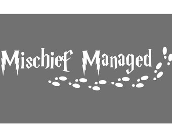 Harry Potter - Mischief Managed Decal