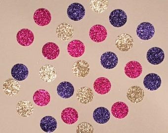 225 Purple Pink and Gold Confetti Glitter Confetti Shower Confetti Baby Confetti Wedding Confetti Birthday Confetti Bachelorette Party