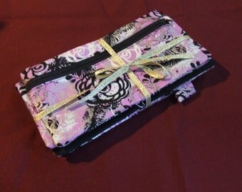 Planner cover and matching pencil case // Handmade Erin Condren/Plumpaper planner cover with pencil case