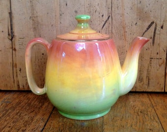 Royal Winton Lusterware teapot made in England, vintage teapot