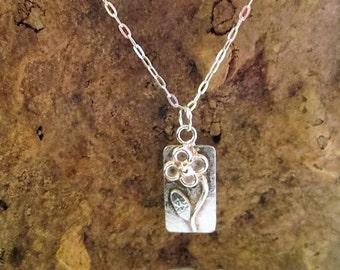 Flower Pendant. Handmade in sterling silver