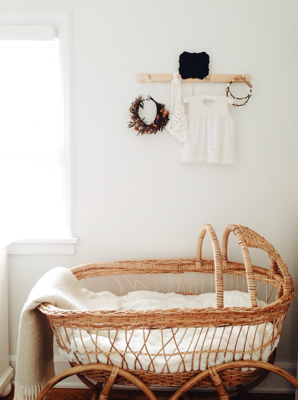 Vintage Style African Bassinet Baby Moses Basket By Designdua