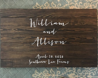 Wedding Guest Book, Rustic Guest Book, Wedding Sign, custom wedding sign, custom wedding decor